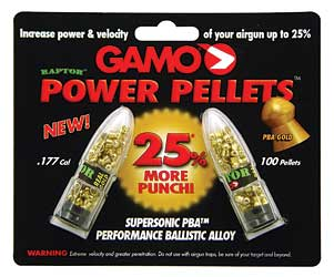 GAMO RAPTOR PBA .177 PELLETS GOLD