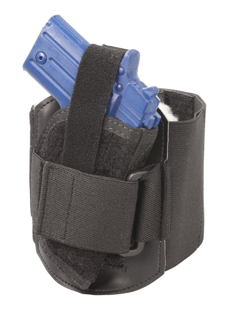 Ankle Holster w/Calf Support Strap, Size 4, Fits Glock 26, 27, 28, 33, 39