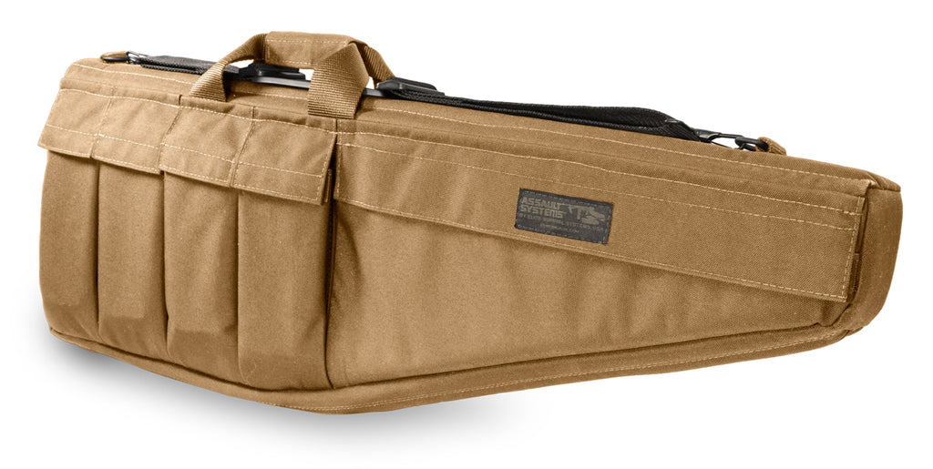 "Assault Systems Rifle Case, 33"", Coyote Tan, AR15, M16, M4 w/collapsible stock"