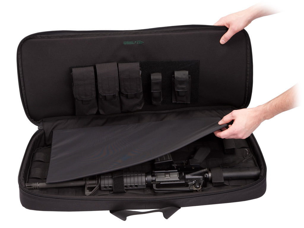 "Covert Operations Discreet Rifle Case, 41"", Colt AR15 Sporter, M16, H&K 91A2, G36 and similar, Coyote Tan"