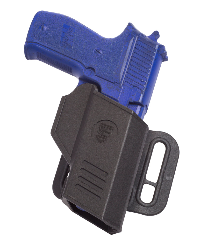 CR Secure Auto-Locking Retention Holster, Black, Sig Sauer 226, Low Ride Belt Hanger
