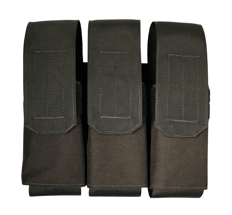 Velcro Attach Triple Mac 10/.45 Stick Magazine Pouch