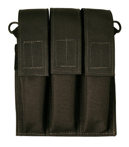 Velcro Attach Triple Pistol Caliber Extended Magazine Pouch