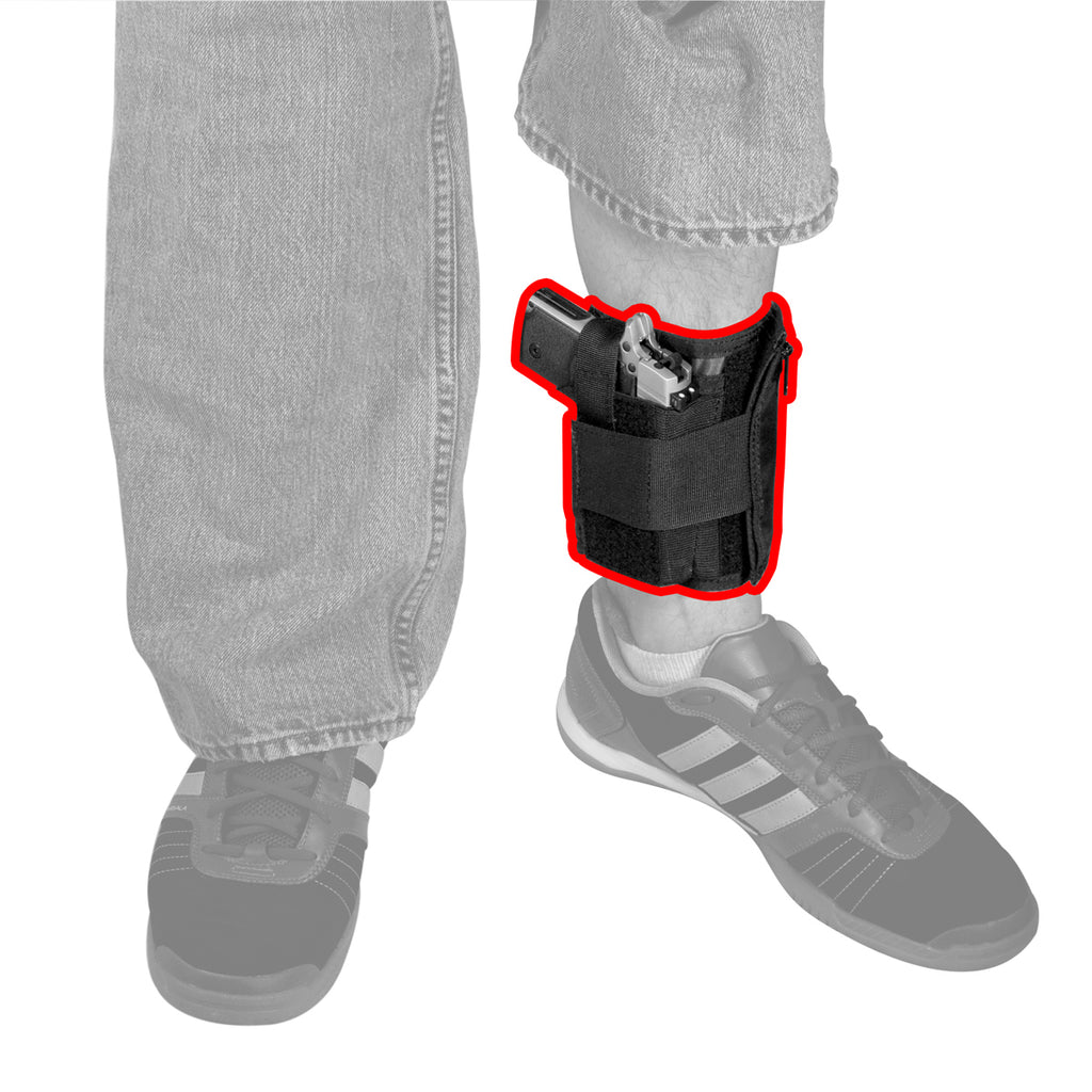 Hide-away Ankle Wallet with Holster