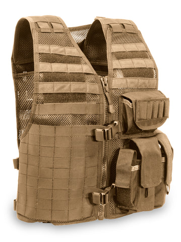 "MVP ""Ammo Adapt"" Tactical Vest, Left side ammo, Coyote Tan"
