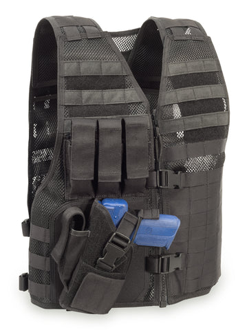 "MVP ""Director"" Tactical Holster Vest, Left hand holster, Black"