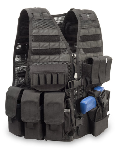 "MVP ""Commandant"" Tactical Holster Vest, Left hand holster, Black"