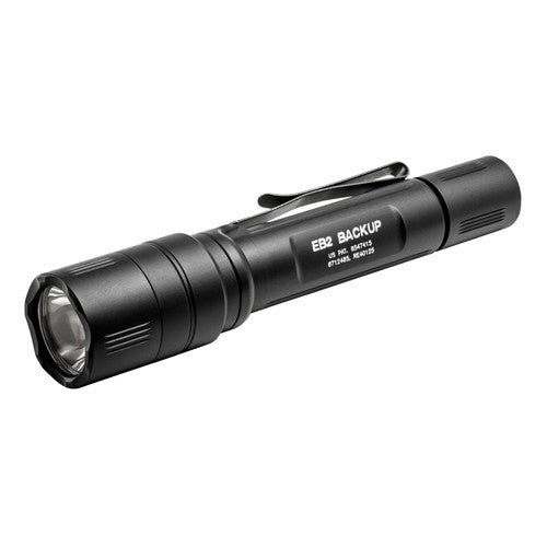 Surefire EB2 Backup, 500/5 Lumens Black, Click Switch