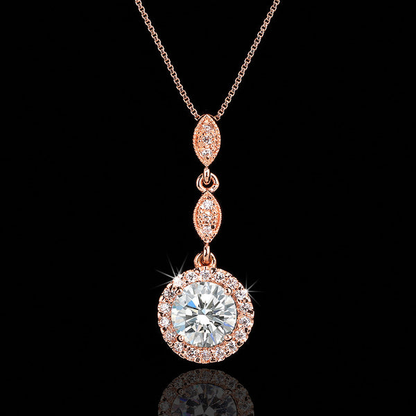Rose Gold Flowerburst Necklace