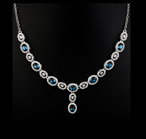 Blue Topaz Necklace and Bracelet
