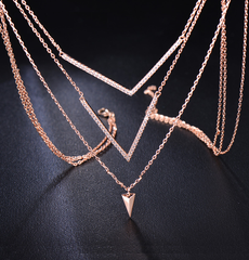 Cascading Rose Gold Necklace