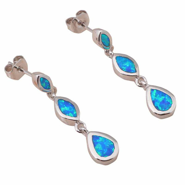 Blue Opal Waterdrop Earrings