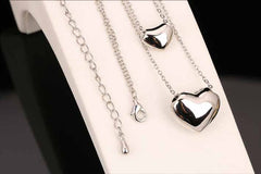 Double Hearts Charm Necklace