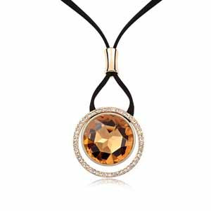 Amber Mosaic Long Necklace