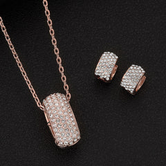 Pavé Ovals Necklace & Earrings