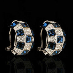 Regal Sapphire Austrian Crystal Earrings
