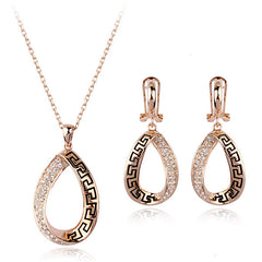 Eternity Necklace and Earrings