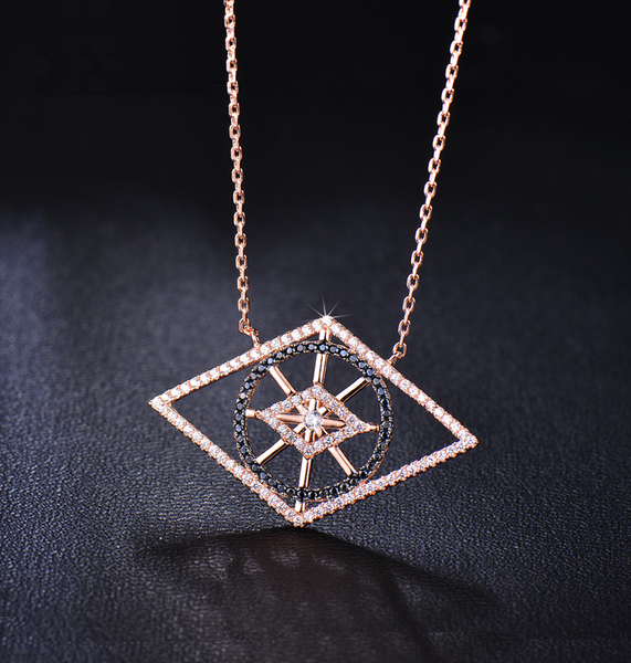New Age Geometric Design Necklace