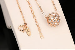 Austrian Crystal Rose Gold Bead Necklace