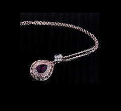 Rose Gold Purple Gem Necklace