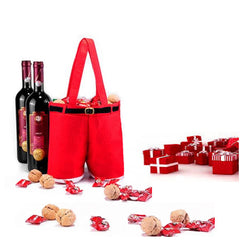 Santa Pants Wine Tote Holder for Gifts & Christmas Decorations