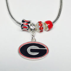 Georgia Bulldogs Bling Necklace