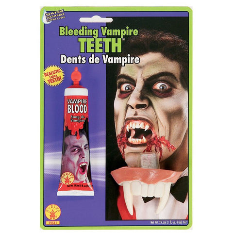 Blood Gel and Vampire Teeth