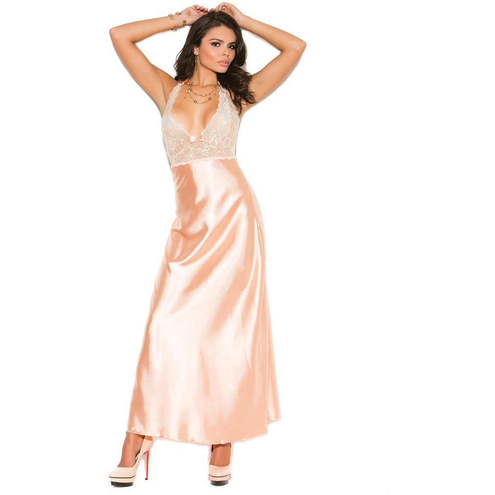 Peach Halter Neck Gown - Charmed Costumes