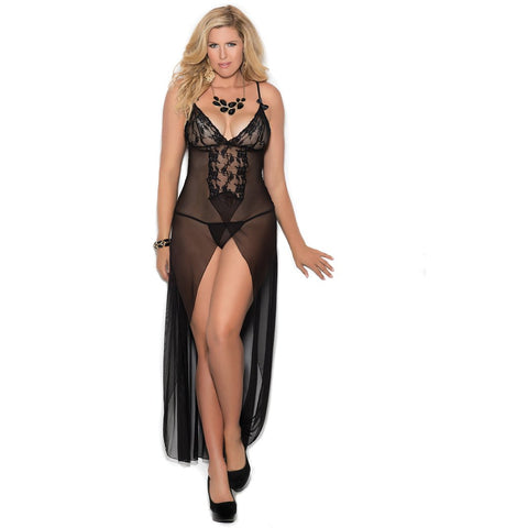 Plus Size Mesh Night Gown