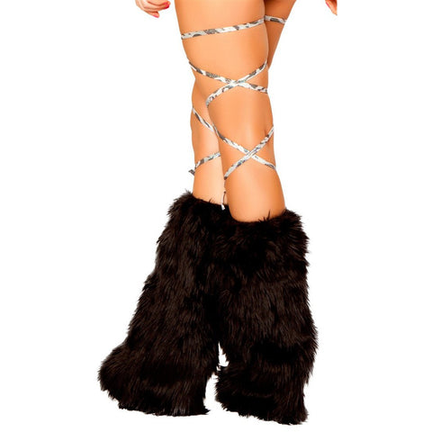 "100"" Printed Thigh Wraps Silver Leopard - Charmed Costumes"