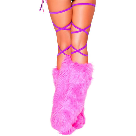 "100"" Solid Thigh Wrap Purple - Charmed Costumes"