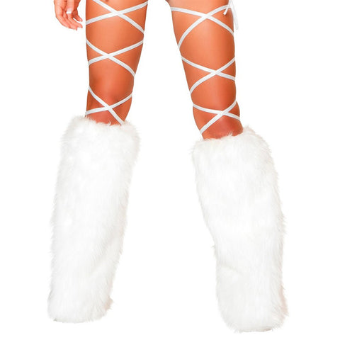 "100"" Solid Thigh Wraps White - Charmed Costumes"