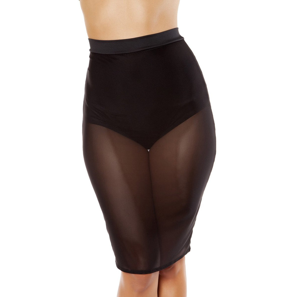 Black Sheer Skirt with Attached Shorts