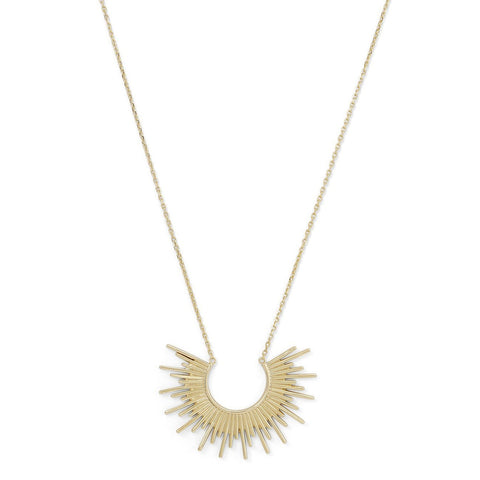 Gold Plated Silver Sunburst Necklace