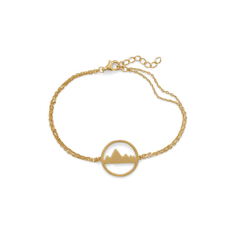 Gold Plated Mountain Range Bracelet