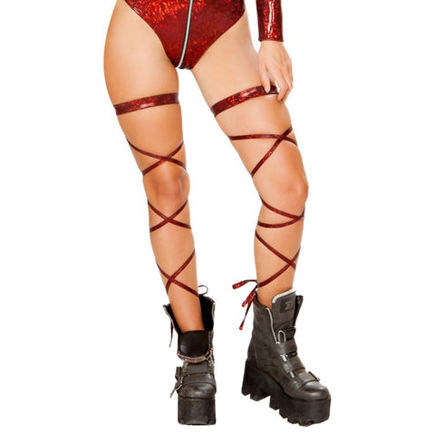 "100"" Broken Glass Leg Strap with Attached Garter"