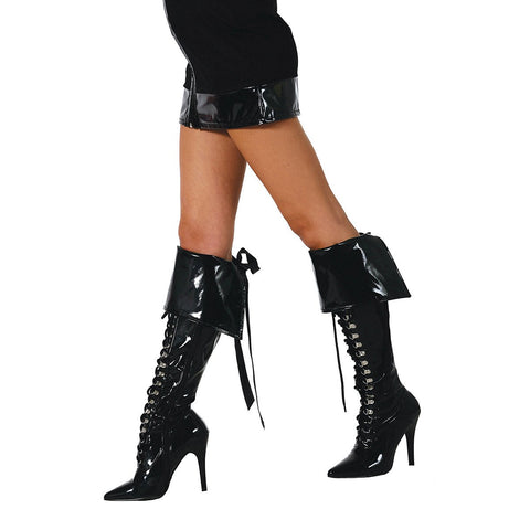 Black Boot Cuffs - Charmed Costumes