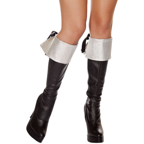 Silver Glitter Boot Cuffs - Charmed Costumes