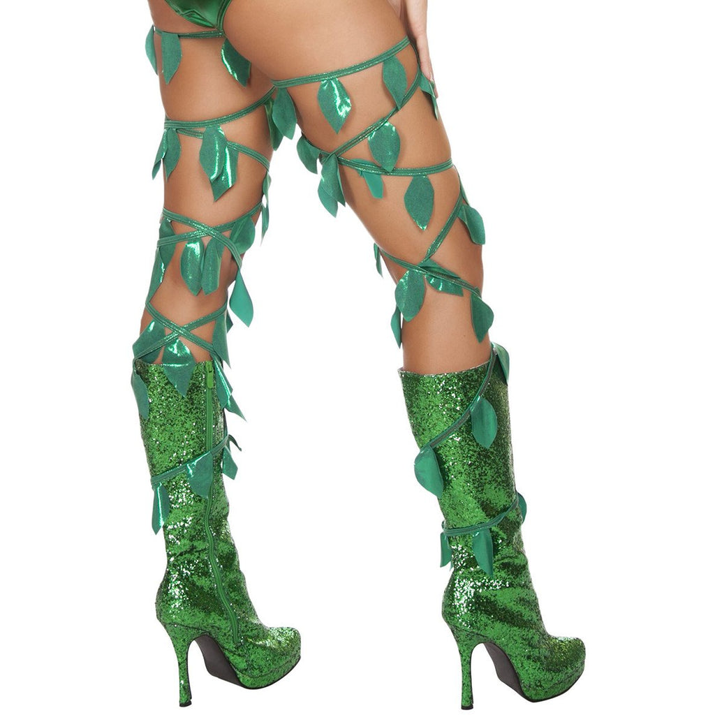 Green leaf Thigh Wraps - Charmed Costumes