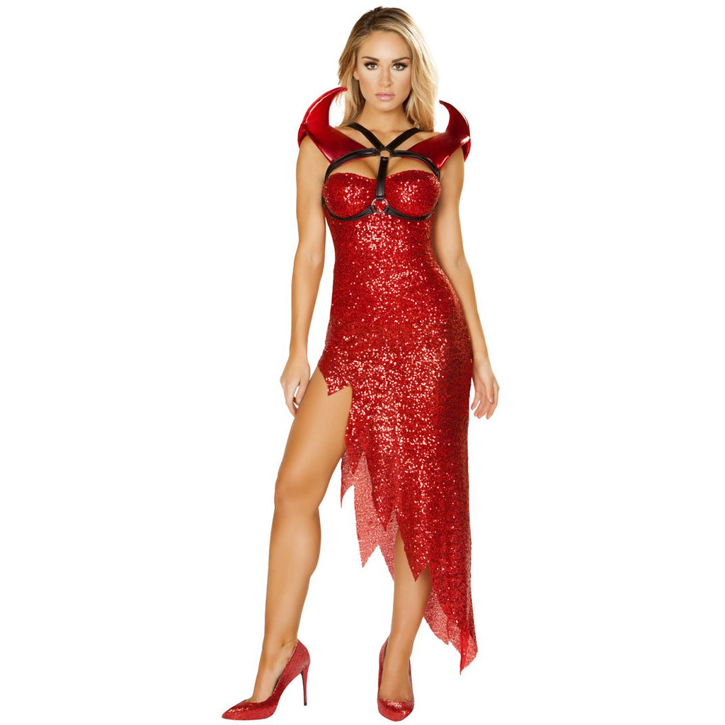 Devil Mistress Red Evil Lucifer Satin Sexy