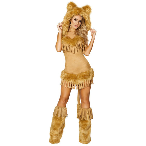 Women's Bashful Lion Furry Animal Lion costume
