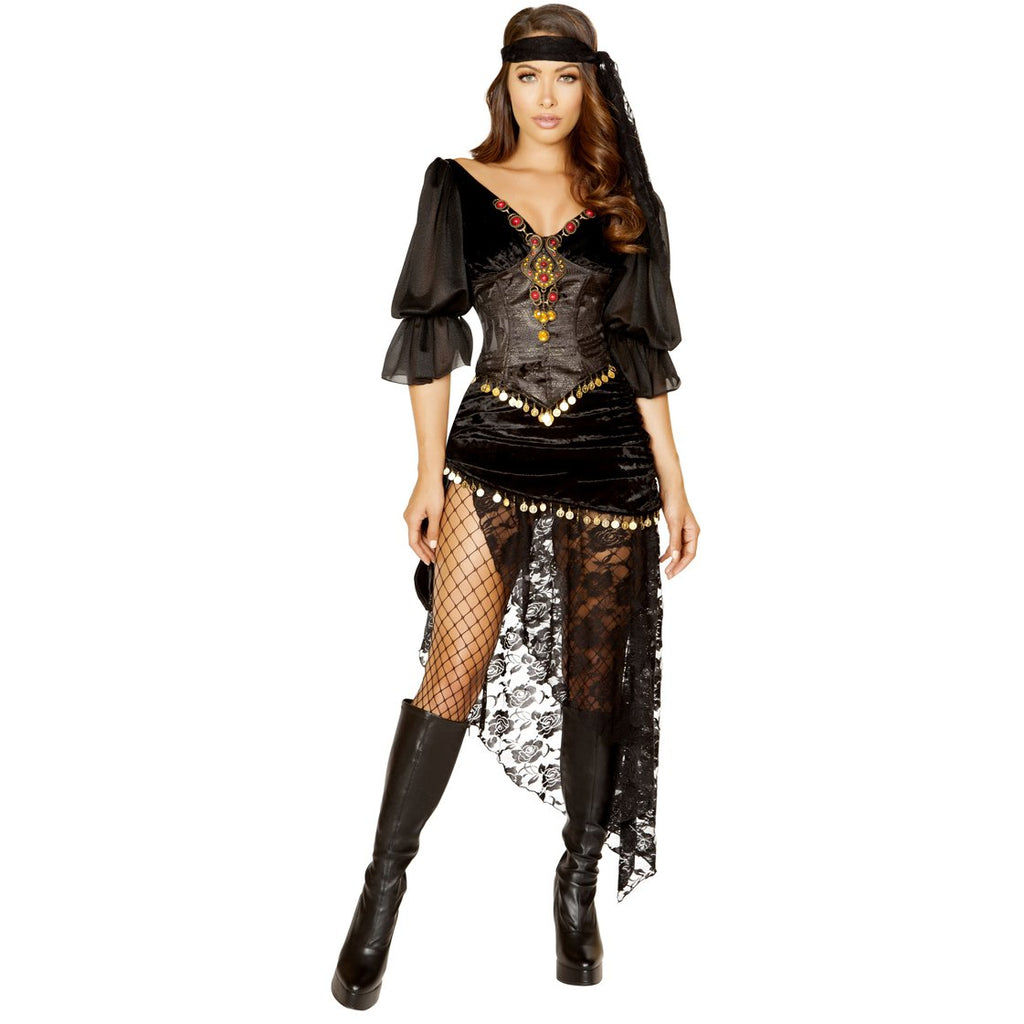 5pc Gypsy Maiden fortune teller circus costume