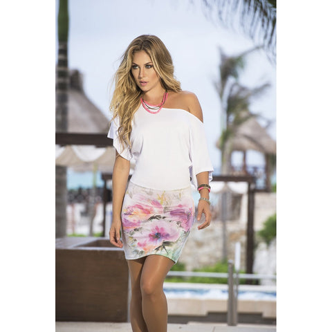 White Floral Off Shoulder Dress - Charmed Costumes