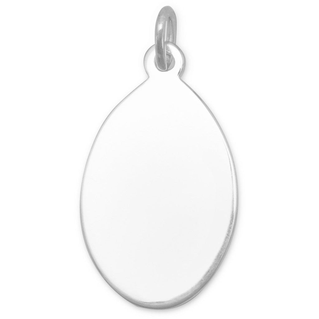 Oval Engravable Tag
