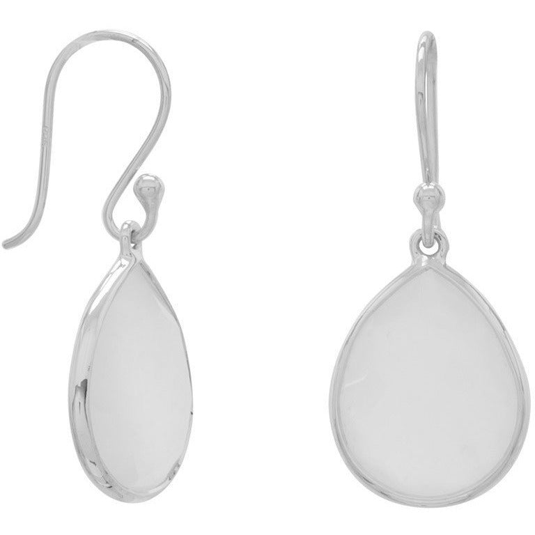 Pear Shape Freeform Faceted Moonstone Earrings