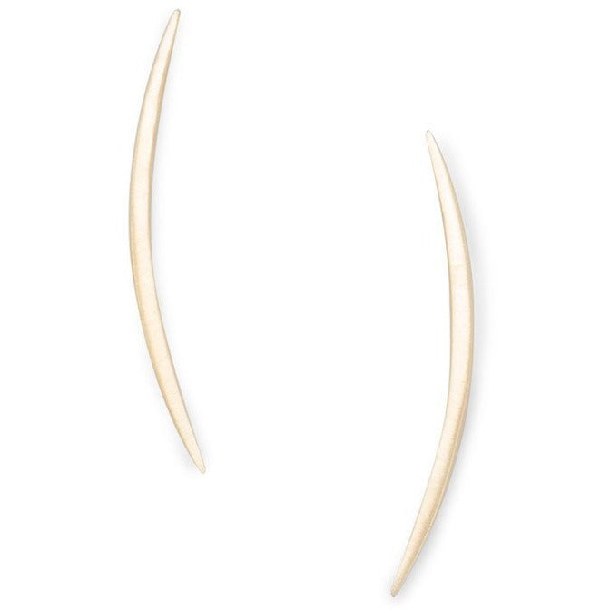 14K Gold Plated Crescent Post Earrings