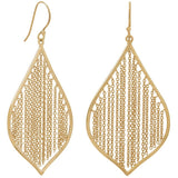 Gold Plated Silver Fringe Leaf Earrings