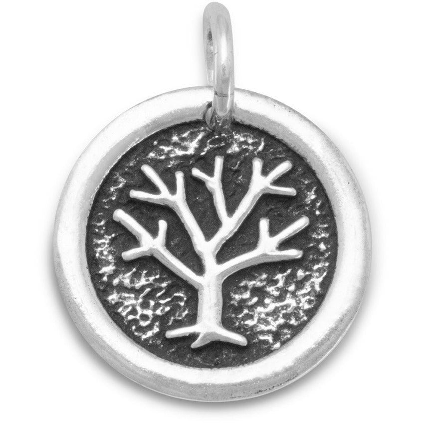 Oxidized Family Tree Pendant