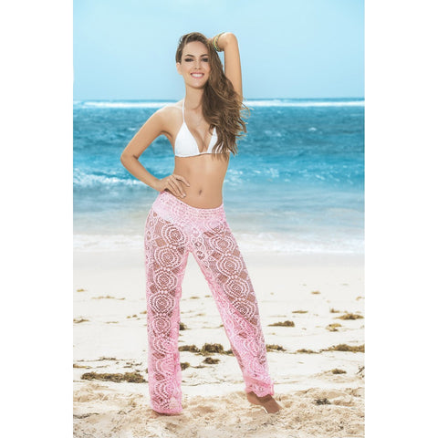 Crochet Cover-up / Beach Pants - Pink - Charmed Costumes