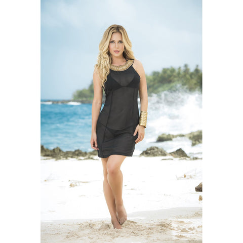 Sheer Cover-up / Beach Dress - Black - Charmed Costumes